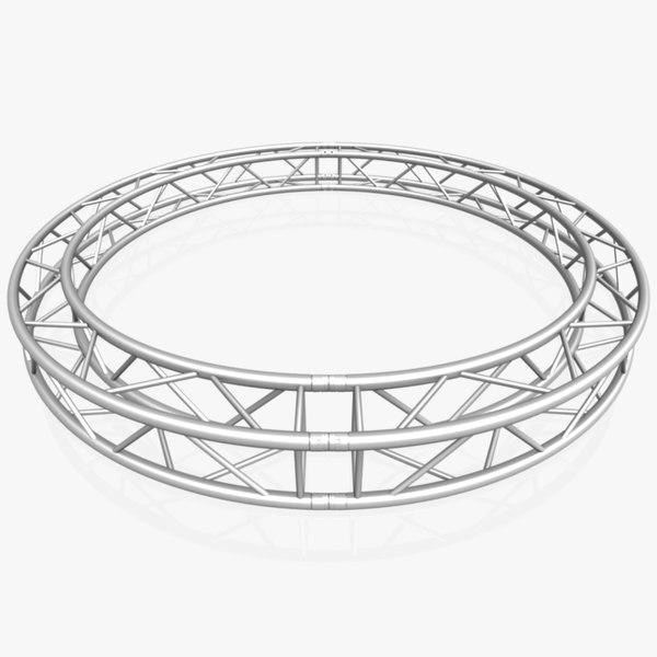3D model circle square truss diameter