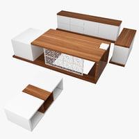 manager office desk 3D model