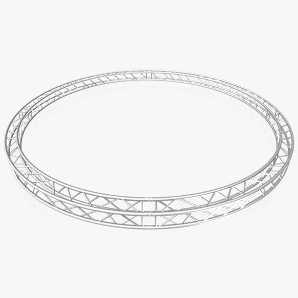 3D circle square truss diameter model