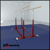 gymnastics parallel bars 3D model