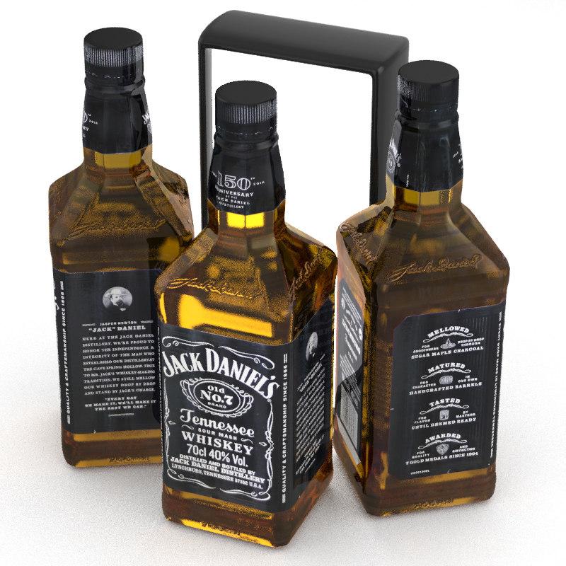 3D bourbon whiskey alcohol model