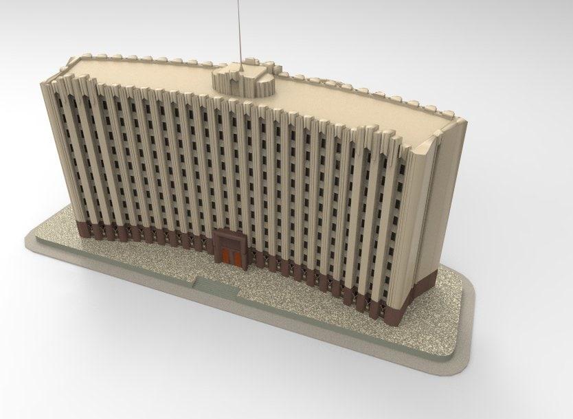 palace grozny 3D model