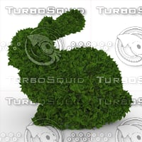3D model ficus rabbit topiary 1