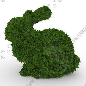 3D model ficus rabbit topiary 1