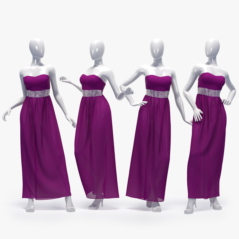 set female dress 3D model