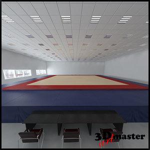 3D artistic gymnastic floor