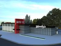3D wendy s model