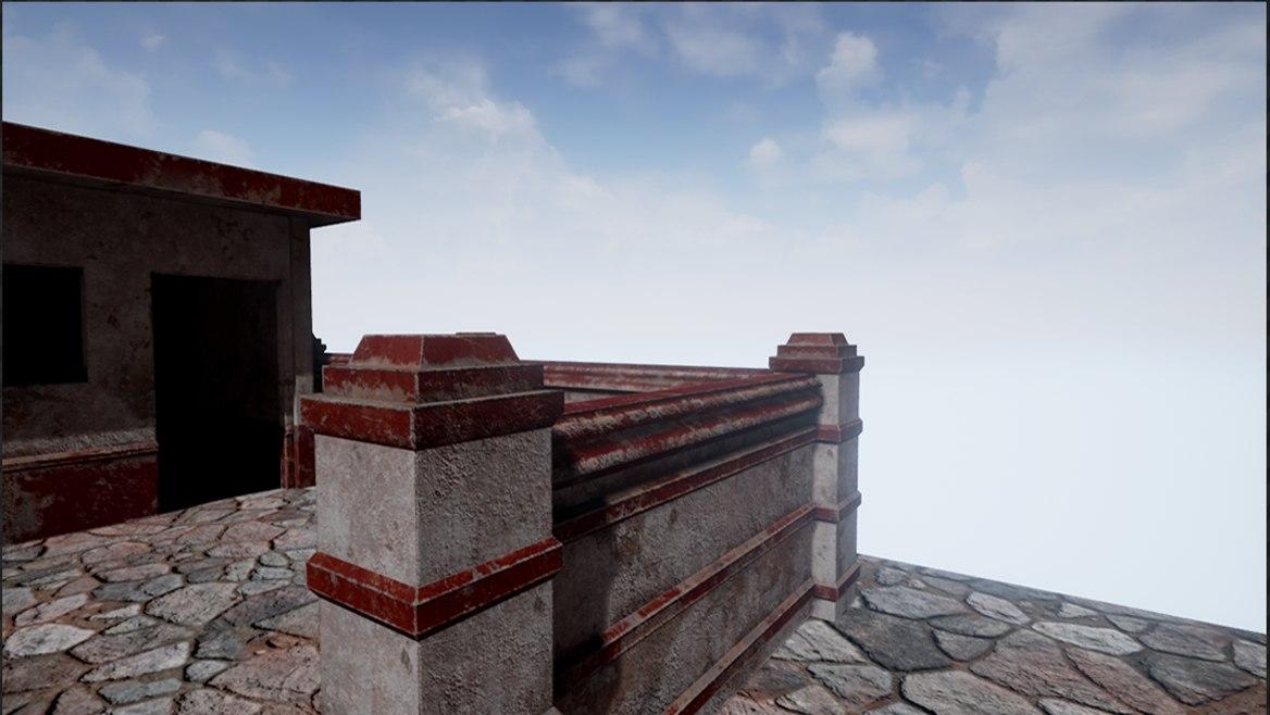 buildings ruins 3D model