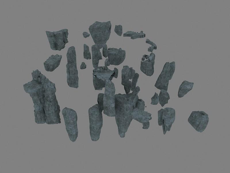 group stone value 3D model