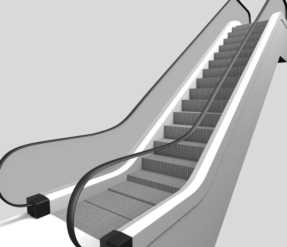 3d escalator upside model