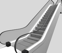 escalator animated upside