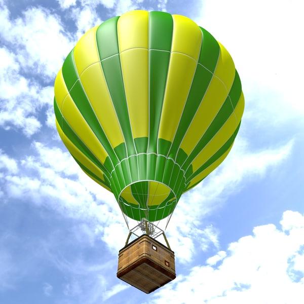 balloon air hot 3D model