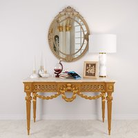 Louis XVI Console in Giltwood