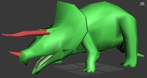 3D model triceratops million years bc