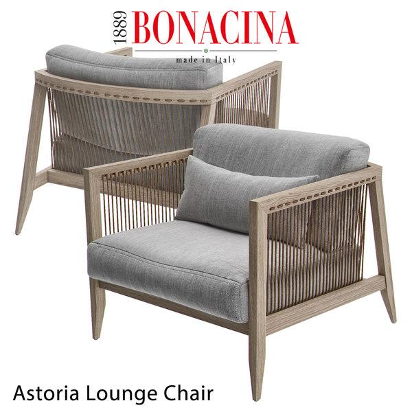 bonacina astoria lounge chair 3D model