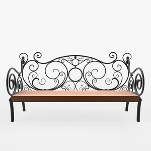 3D model forged bench