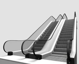 moving escalator model