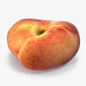 3D model doughnut peach