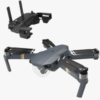DJI Mavic Pro Quadcopter with Remote Controller Rigged