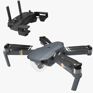 dji mavic pro quadcopter 3D model