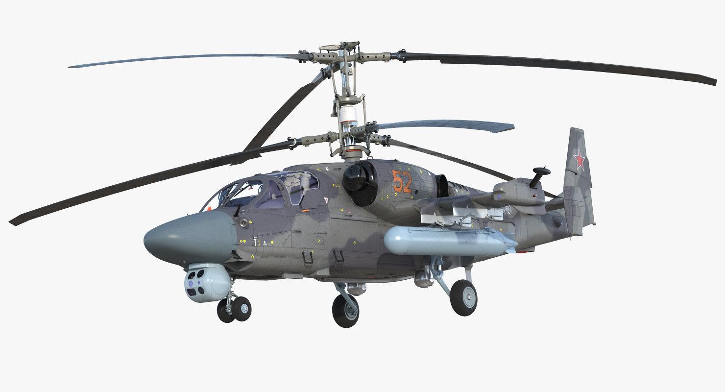 attack helicopter ka52 black model