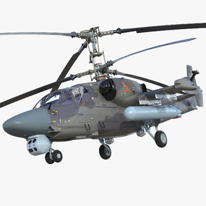 attack helicopter ka52 black model