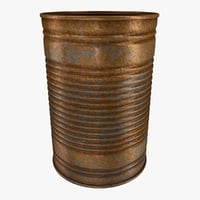 3D realistic rusty tin model