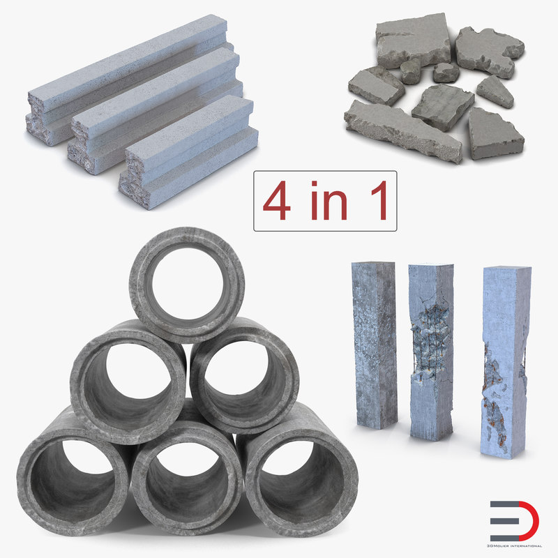 3D concrete elements