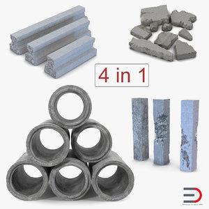 3D concrete elements