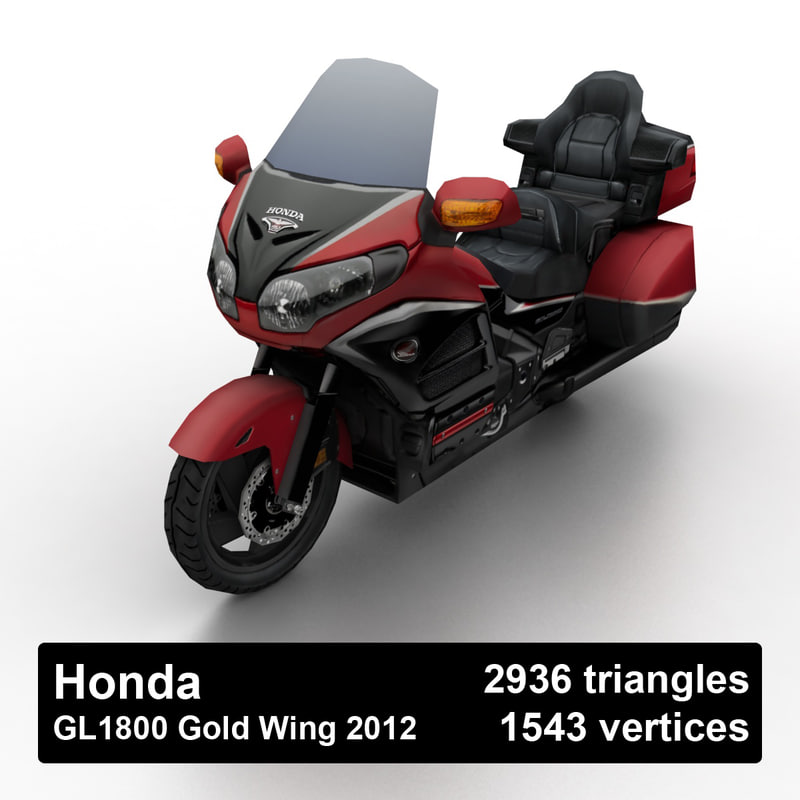2012 gl1800 gold wing 3D model