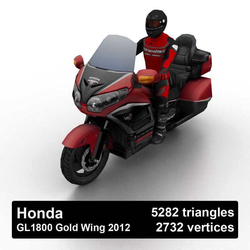 2012 gl1800 gold wing 3D model