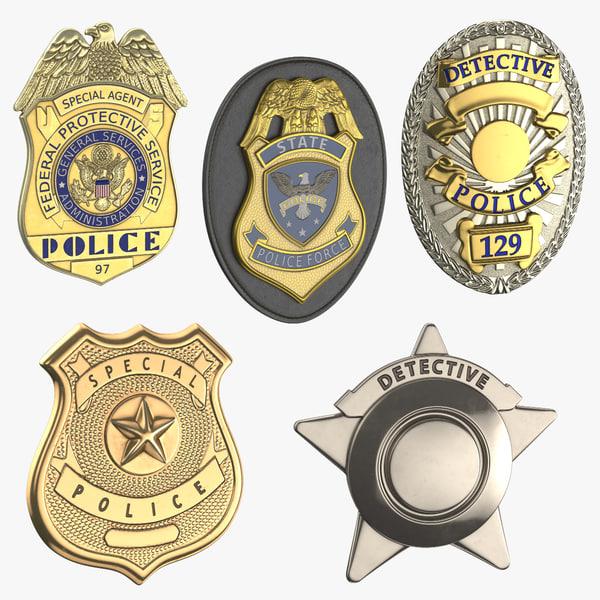 3D police badges