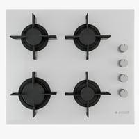 3D arcelik cooker hob