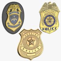 police badges 3D