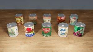 3D tin cans