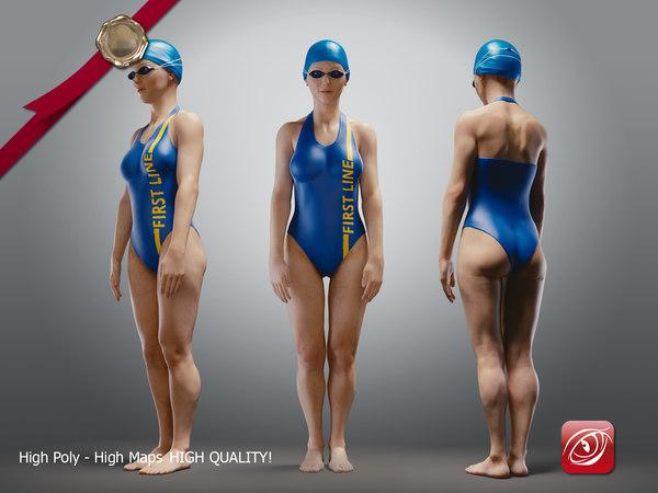 swimmingpoolgirlcasuala girl swimming model
