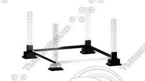 footing structure 3D model