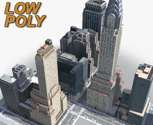 3D new york manhattan midtown model
