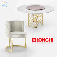 Longhi Manfred table and Cloe chair