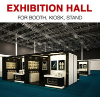 3D exhibition hall model