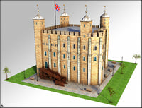 london tower 3D model