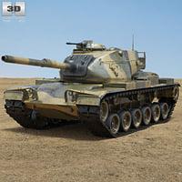 3D m60 patton m model