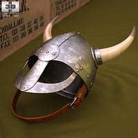 helmet viking horns 3D model