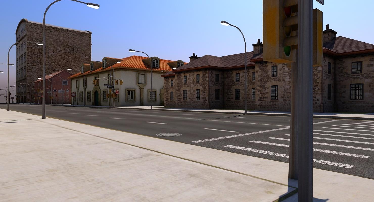 3D city blocks model