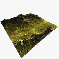 Grass Tropical Terrain Game Ready