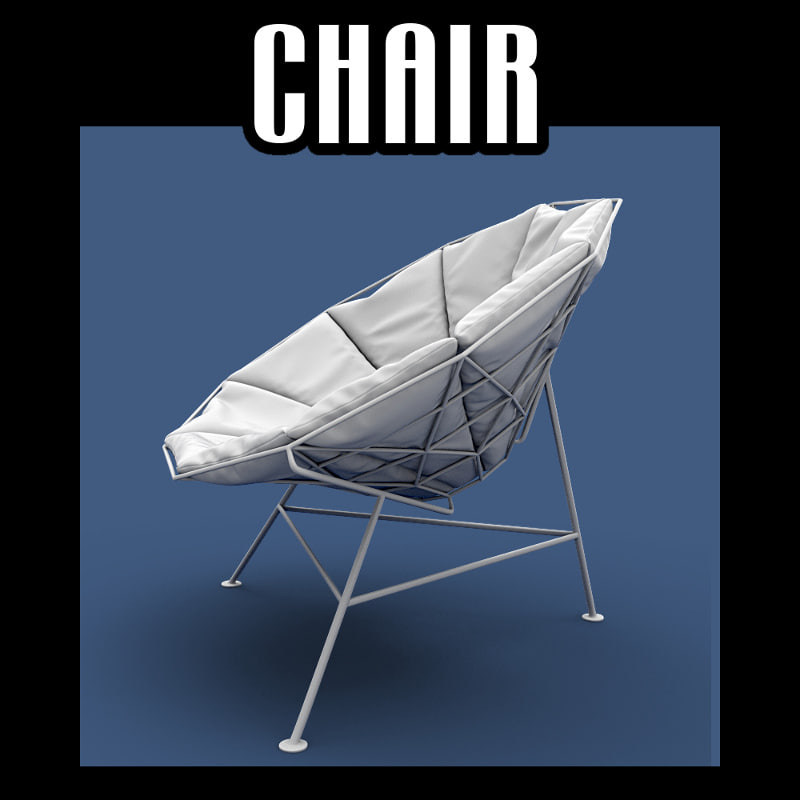 3D chair interiors model