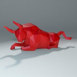 bull printing stl 3D model