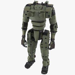 3D battle mech silverfox