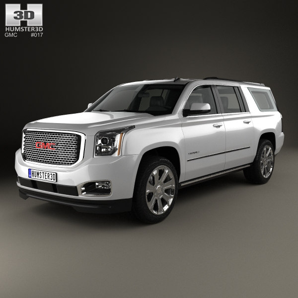 3D gmc xl yukon model