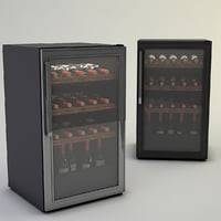 wine fridge general 3D